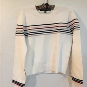 Veronica beard white strip sweater Sz s
